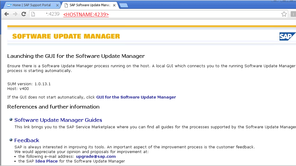 How to Start/Launch Software Update Manager Tool (SUM