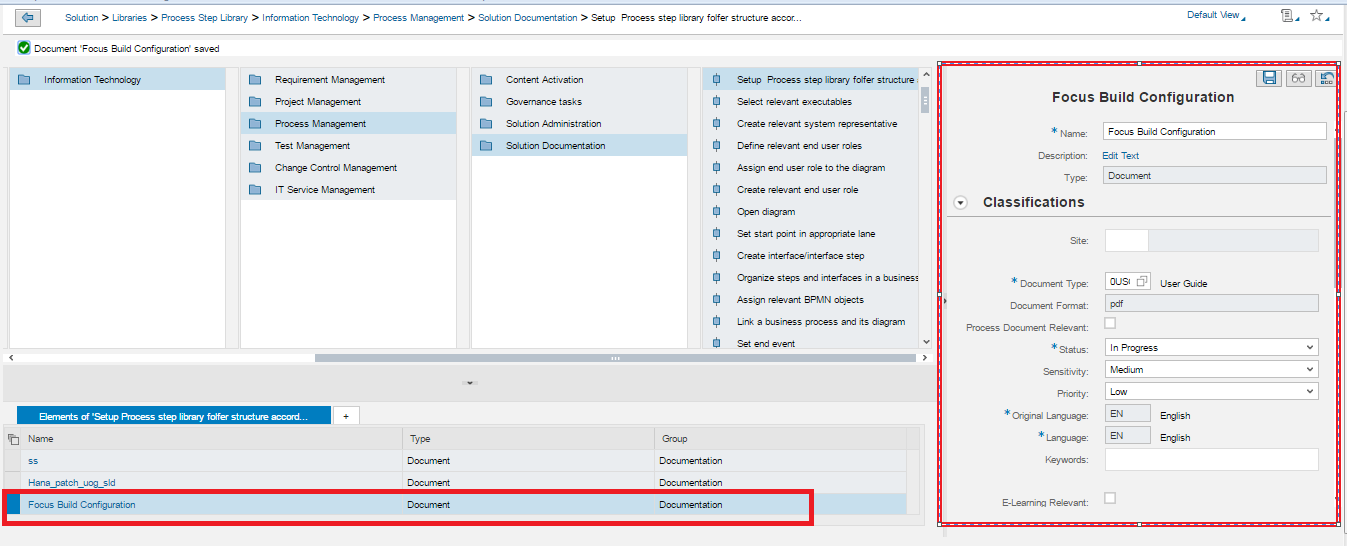 Solution Documentation in Solution Manager 7 2